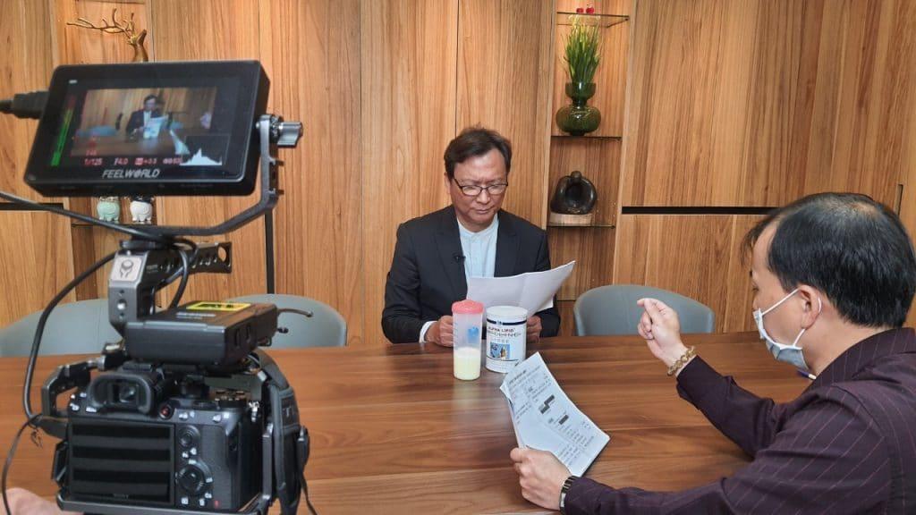 星澤國際-台灣好品牌 電視節目-專訪「心益美」精彩側拍花絮-游祈盛與楊含容監督製作
